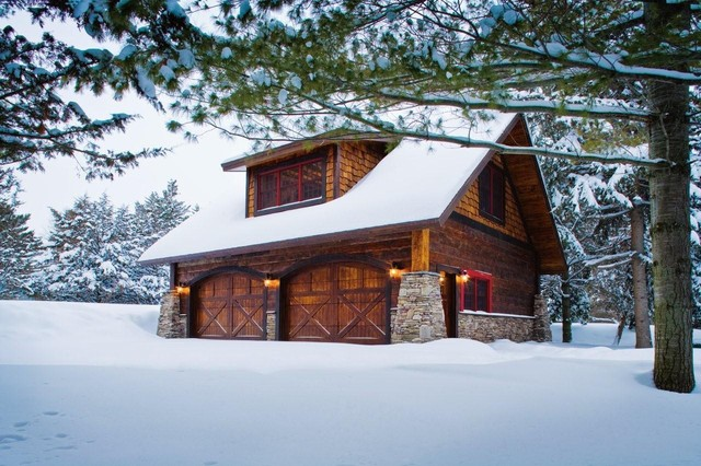 Carriage house lower whitefish lake winter for Carriage barn plans
