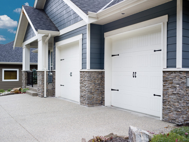 Carriage Style Garage Doors Beach Style Garage