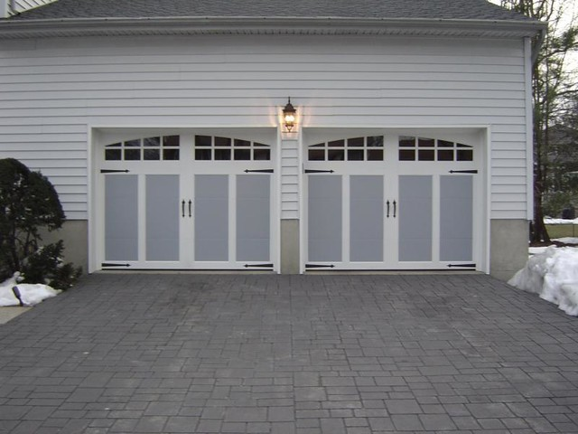 Faux carriage garage door