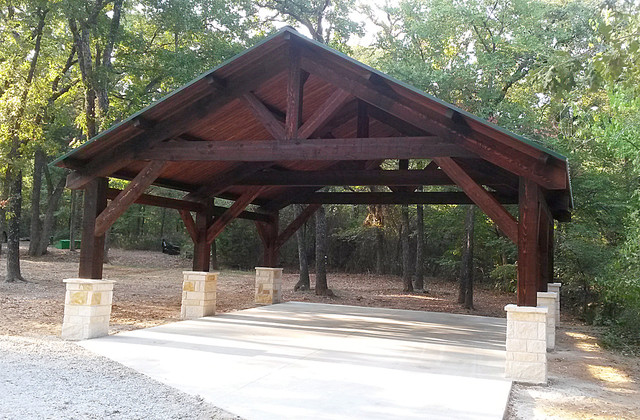 Cedar Carport In Pilot Point Texas Rustic Garage