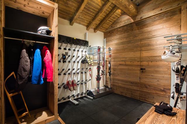 Chalet Meribel rustico-garaje