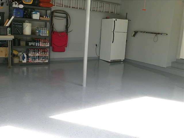 Cleaned And Painted Garage Floor American Traditional Garage