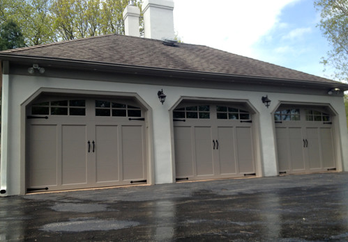 Clopay coachman garage doors farmhouse garage and shed for Farmhouse garage doors