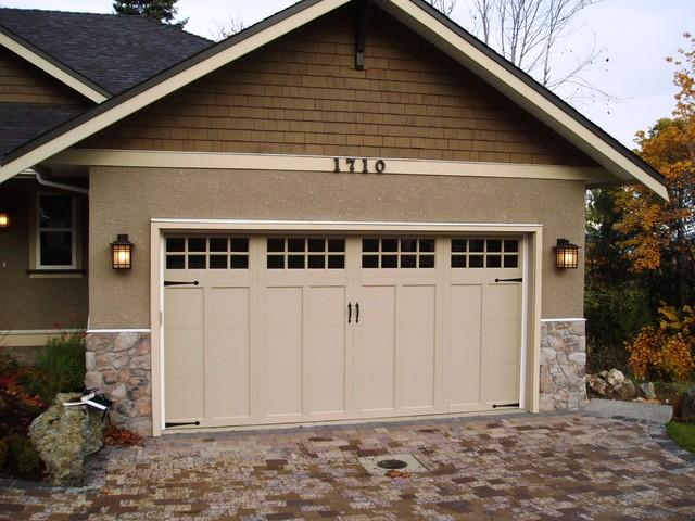 Single Garage Door With Window Medeteranian Ideas   Clopay Coachman Series Garage  Door Traditional Garage