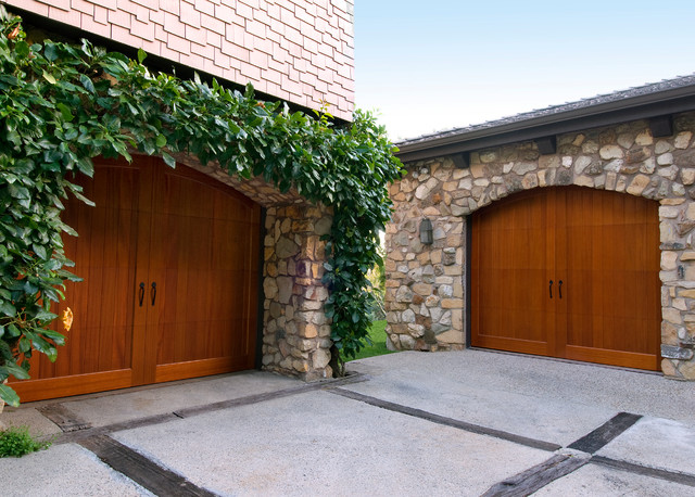Example Of A Classic Two Car Garage Design In Austin