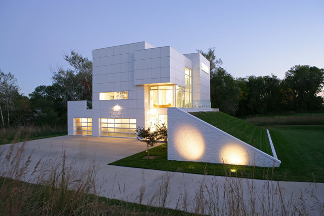 Contemporary Cubist Home Contemporary Garage Other