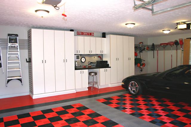 garage inside. Inspiration For A Timeless Two-car Garage Remodel In Cincinnati Inside