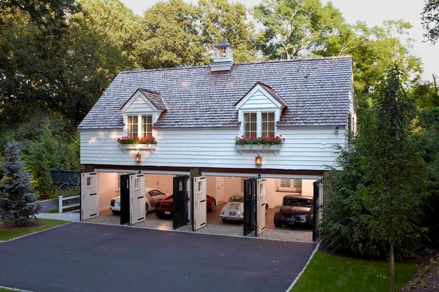 Country Carriage House Traditional Garage Boston