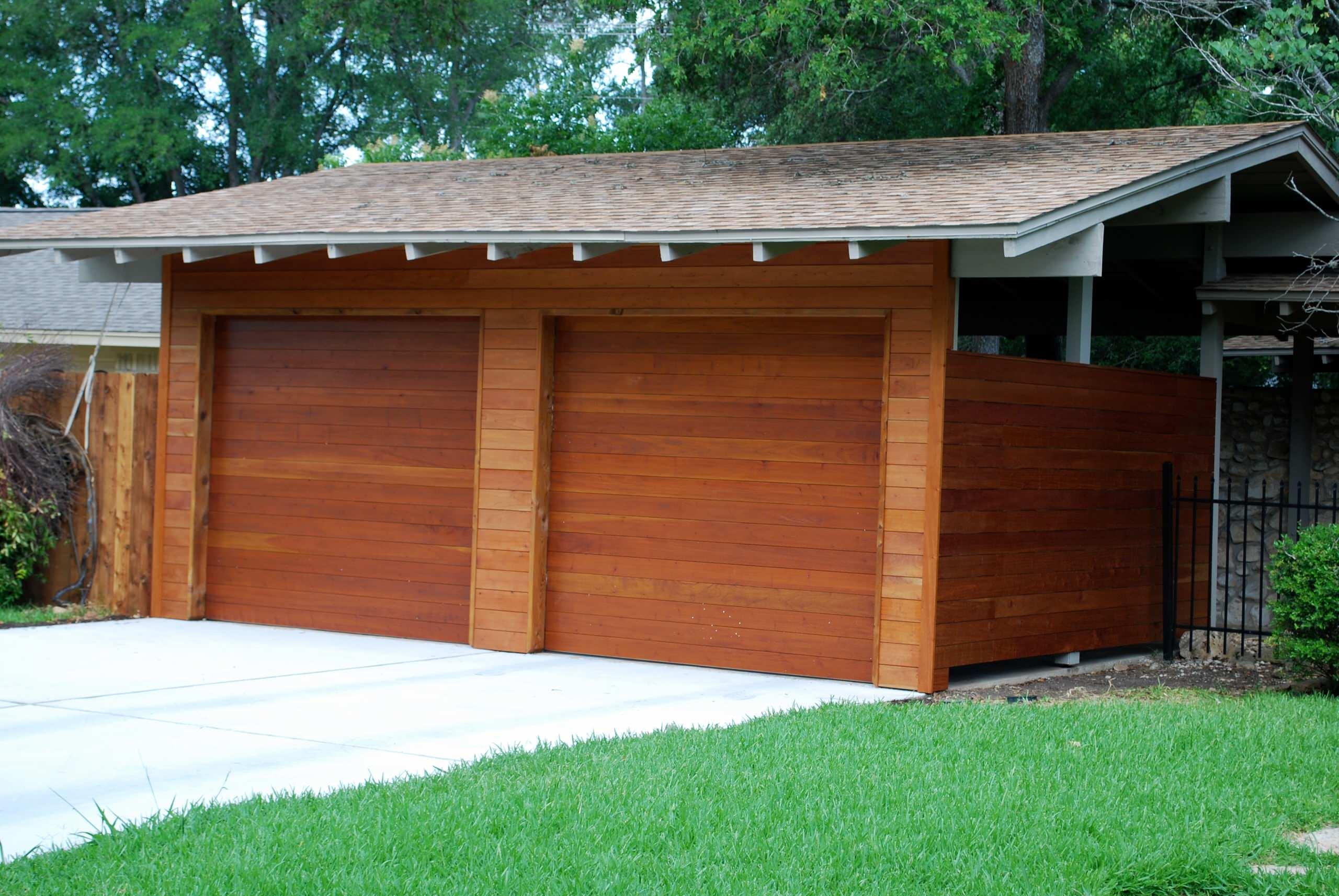 Cowart Door Carport Conversion Modern Garage Austin By Cowart Door Systems Houzz