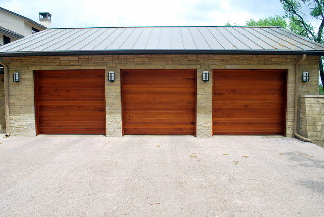 Cowart door custom wood garage doors modern garage for Cedar wood garage doors price