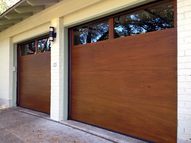 Cowart door modern wood garage doors modern garage for Clopay wood garage doors