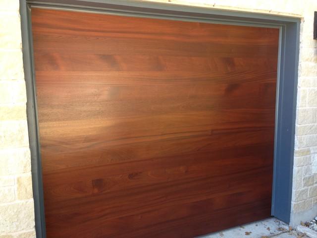 Garage door accents - Cowart Door Modern Wood Garage Doors Modern Garage