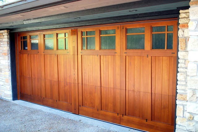 Craftsman style garage door by cowart door craftsman for Craftsman style garage lights