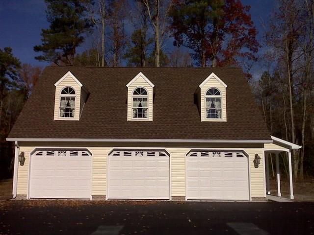 Custom 3-Car Garage traditional-garage-and-shed