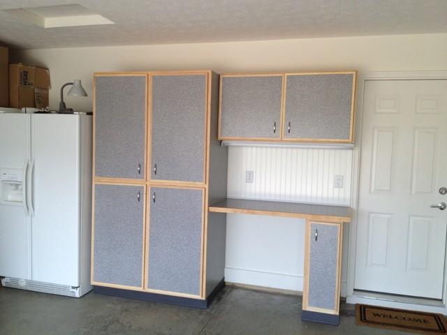 Custom Built Garage Storage Cabinets, Built In Storage Cabinets For Garage Door