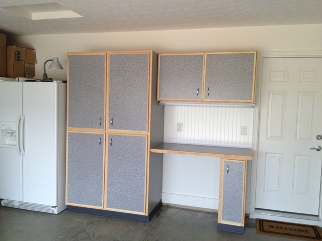 Custom built garage storage cabinets traditional-garage-and-shed