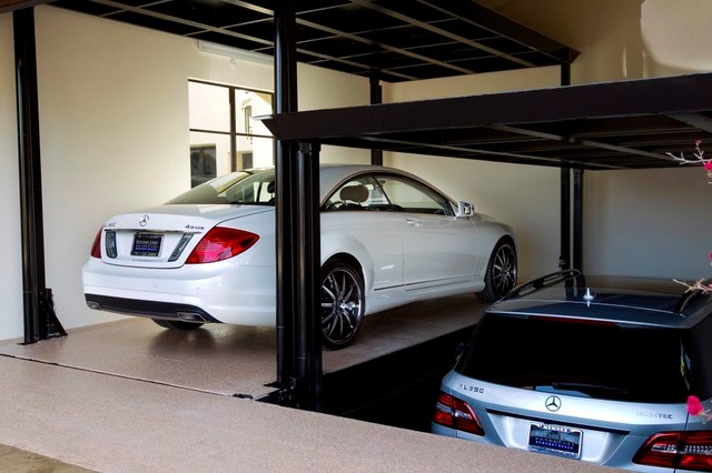 Custom Car Lift In California Garage Contemporary Car Porch