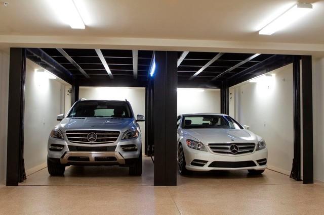 custom car lift in california garage contemporain garage los angeles par mckinley. Black Bedroom Furniture Sets. Home Design Ideas