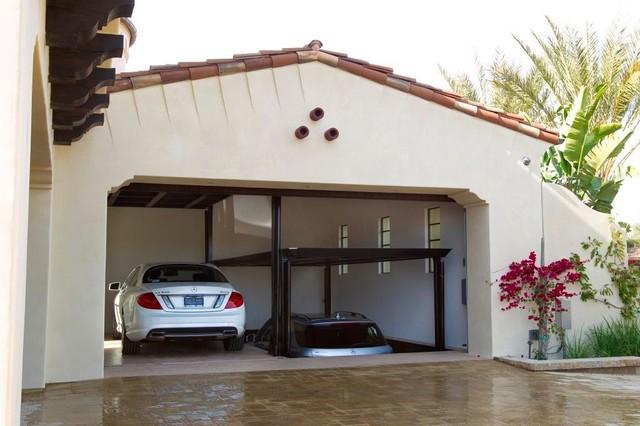 Custom car lift in california garage mediterranean for California garage plans