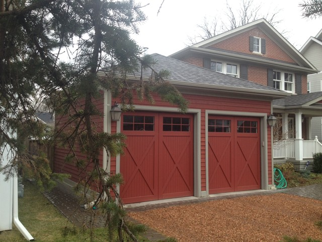 Custom carriage house garage doors farmhouse shed for Farmhouse garage doors