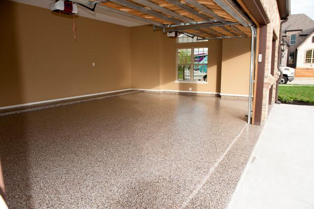 Custom garage floor highland village flower mound for Diamond cut floors