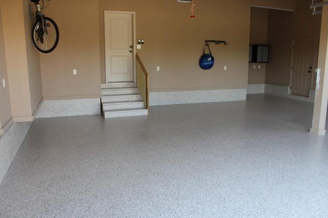 Custom garage floors transitional garage other by for Diamond cut floors