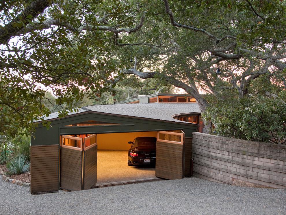 Custom Garage Half Open Modern Garage Santa Barbara By Projects General Construction Inc