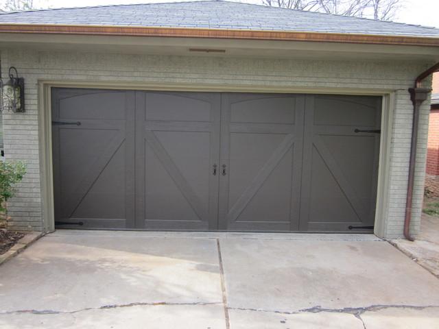 Custom smart trim craftsman garage oklahoma city for Garage door repair edmond ok