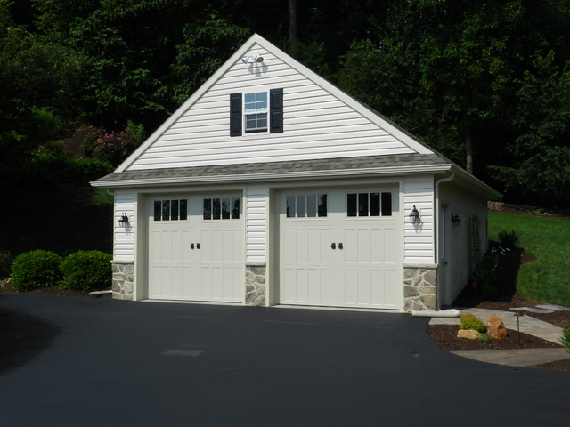 Custom Two Car Garage With Attic Traditional Garage