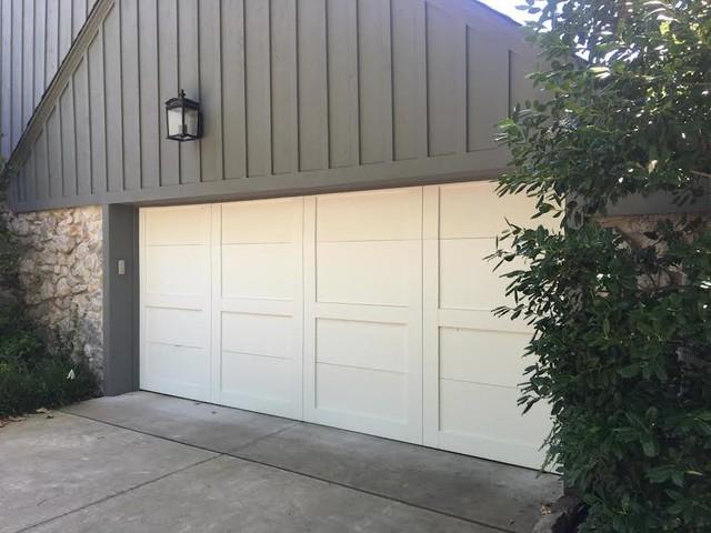 Custom Wood Overlay Traditional Garage Oklahoma City