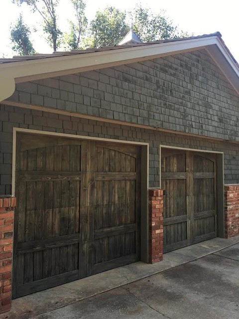 Custom Wood Overlay Craftsman Garage Oklahoma City