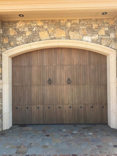 Custom Wood Overlay Traditional Garage Oklahoma City