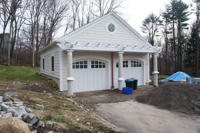 Detached 2 car garage traditional garage bridgeport for Detached room addition