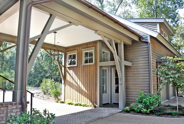 Detached Carriage House contemporary-garage-and-shed