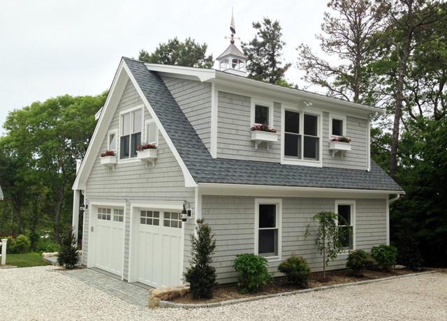 Detached garage with deck loft klassisk garage for Detached garage utah