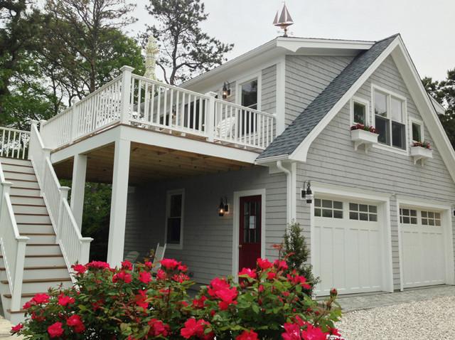 Detached Garage With Deck Loft Traditional Garage