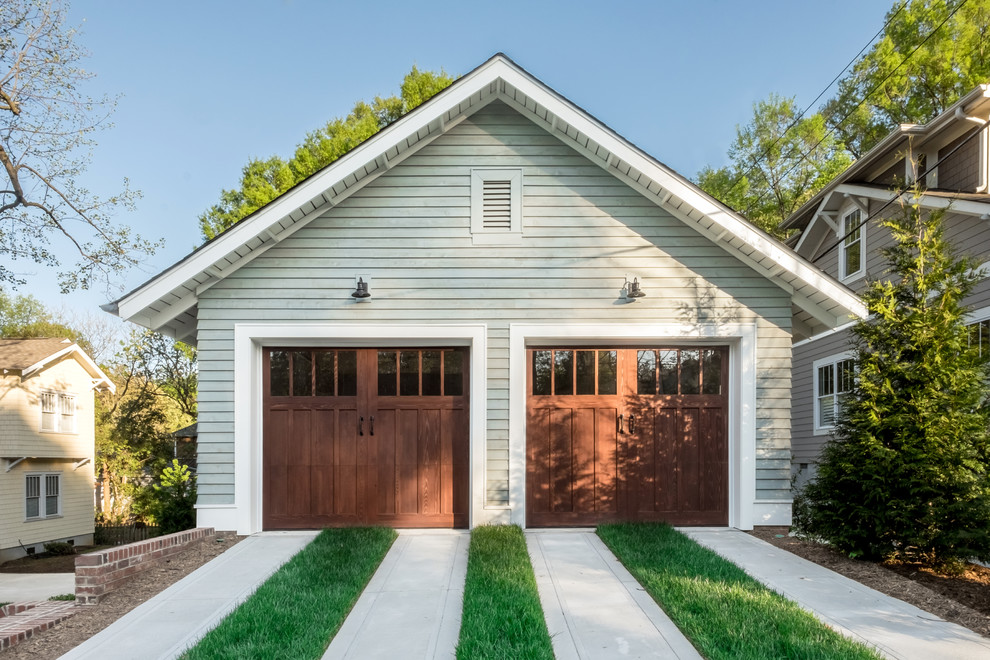 Arts and crafts detached garage photo in Charlotte