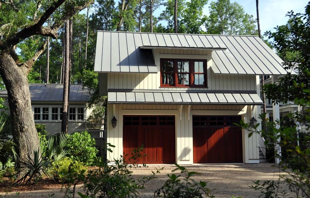 Garage - large traditional detached two-car garage idea in Atlanta