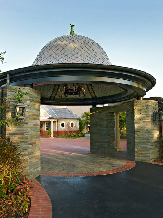 Detached carport with breezeway home design ideas for Drive through carport