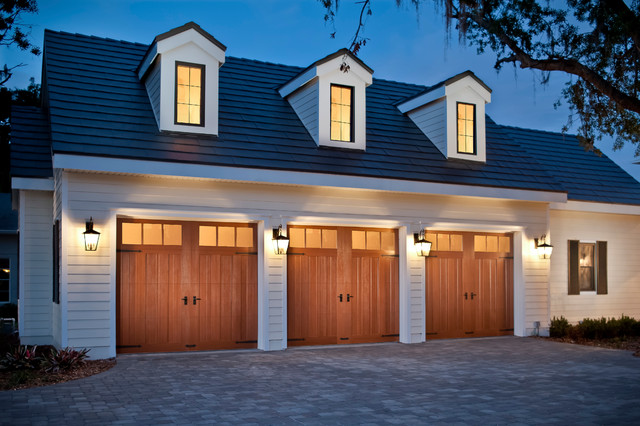 Doors by clopay canyon ridge composite farmhouse for Farmhouse garage doors