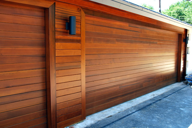 Doors To Match Rain Screen Siding Modern Garage And