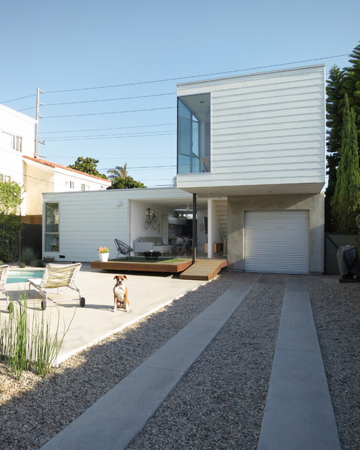 driveway modern garage and shed los angeles by ras a inc