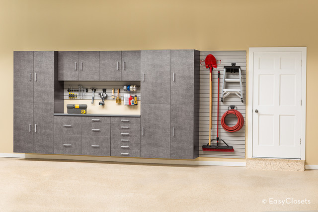 EasyClosets Garage in Platinum contemporary-garage-and-shed