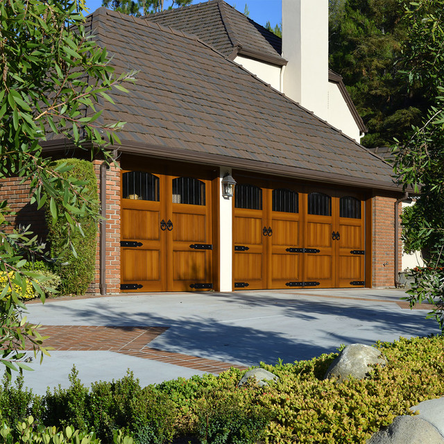 Eco friendly composite garage doors in a custom european for European garage doors