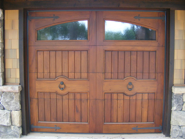 Exterior doors rustic garage other by appwood for Rustic wood garage doors