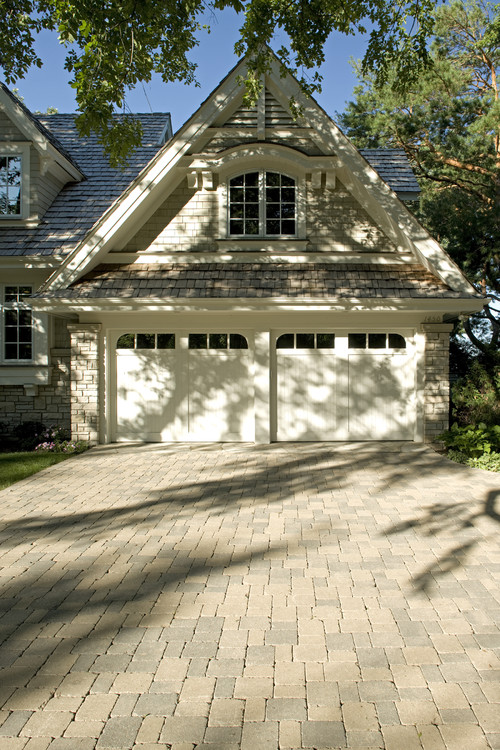 Custom Built House With Paver Brick Driveway