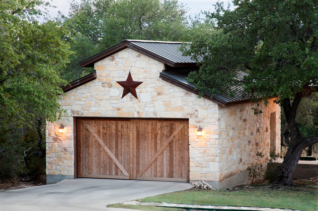 Exteriors Rustic Garage Austin By Dearth Design