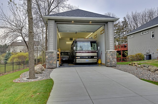 Exteriors traditional garage minneapolis by for Rv shed ideas