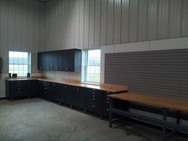 Extra large cabinet design-working farm workshop - Traditional - Garage And Shed - other metro ...