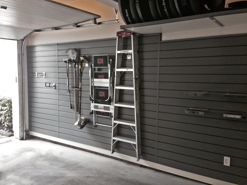 Example of a small urban carport design in Vancouver